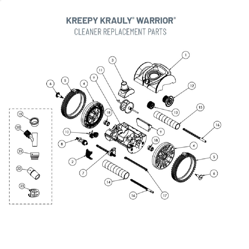 Pentair 360289 Left Drive Kit for Rebel and Kreepy Krauly Warrior Pool Cleaners