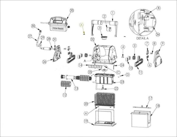 Parts Diagram - Maytronics Dolphin 2002 Robotic Pool Cleaner