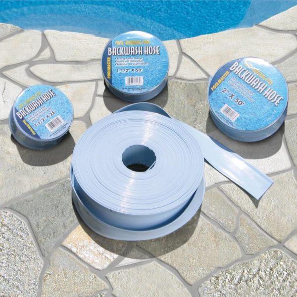 """Backwash Hose - 50' Long 1 1/2"""" for Above Ground Pools & Spas"""