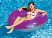 "Swimline 90193 42""  Water-Park Style Inflatable Ring with Handles"