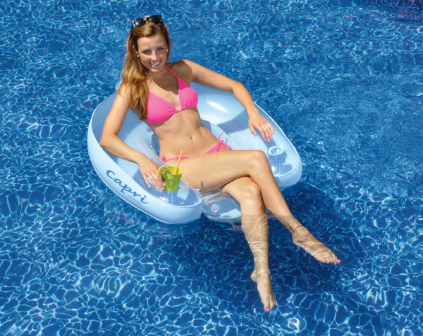 Swimline 90414 Inflatable Floating Capri Lounge Chair