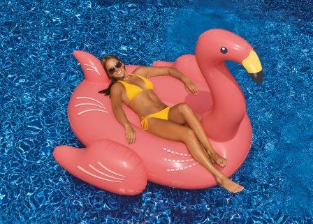 Swimline 90627 Inflatable Floating Giant Pink Flamingo