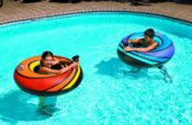 Swimline 90755 PowerBlaster TWO Inflatable Floating Ride On Tubes with Squirters
