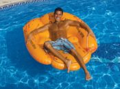 Swimline 90844 Giant Inflatable Floating Baseball Glove Air Mattress