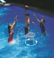 Swimline 9162 Floating Super Hoops Basketball