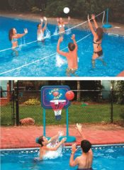 Swimline 9184 Swimming Pool Cool Jam Basketball/Volleyball Game