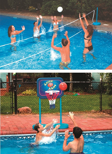 Swimline 9184 Swimming Pool Cool Jam Basketball/Volleyball Game