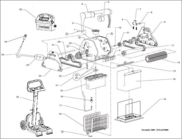 Parts Diagram - Maytronics Dolphin Advantage Plus