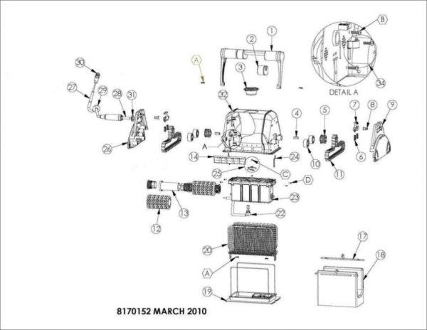 Parts Diagram - Maytronics Dolphin Advantage Plus Pro RC