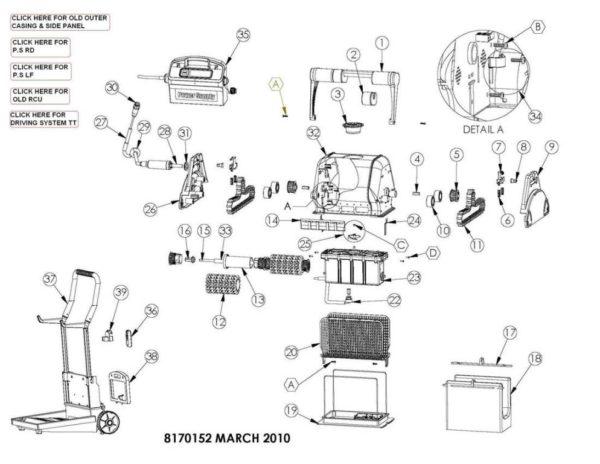 Parts Diagram - Maytronics Dolphin Pro X2 - Yellow