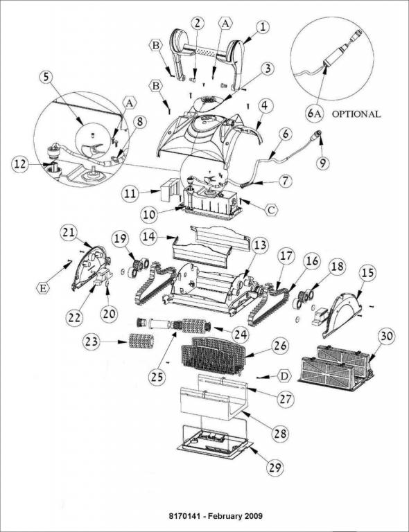 Parts Diagram - Maytronics Dolphin Apollo Plus