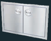 "Luxor Stainless Steel Double Door 30"" - ""Slimline Series"""