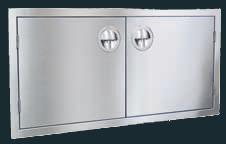 """Luxor Stainless Steel Double Door 42"""" - """"Slimline Series"""""""