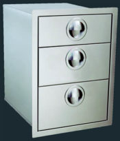 "Luxor Stainless Steel Triple Drawer - ""Slimline Series"""