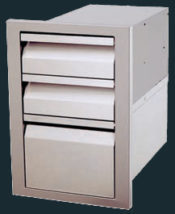 Stainless Steel Triple Drawer