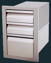 Stainless Steel Triple Drawer