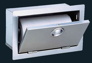 "Luxor Stainless Steel Paper Towel Dispenser Door - ""Slimline Series"""