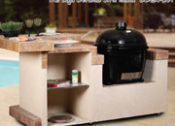 "96"" Baja Complete Outdoor Kitchen with Raised Bar for Primo Ceramic Cooker - No One Beats Our Price!"