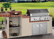 "96"" Baja Complete Outdoor Kitchen with Raised Bar - No One Beats Our Price!"