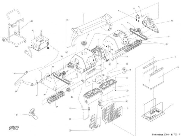 Parts Diagram - Maytronics Dolphin 2x2