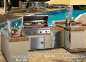 "108"" Grill Island with 84"" Raised Bar and 60"" Bar with Ice Chest - No One Beats Our Price!"