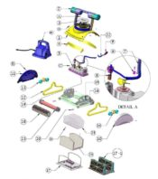 Parts Diagram - Maytronics Dolphin Deluxe 4 Robotic Pool Cleaner