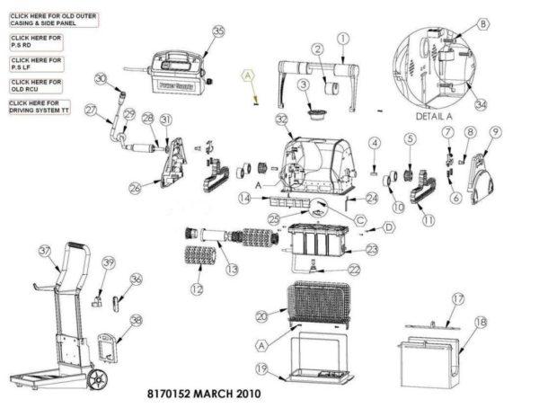 Parts Diagram - Maytronics Dolphin DX5 Plus
