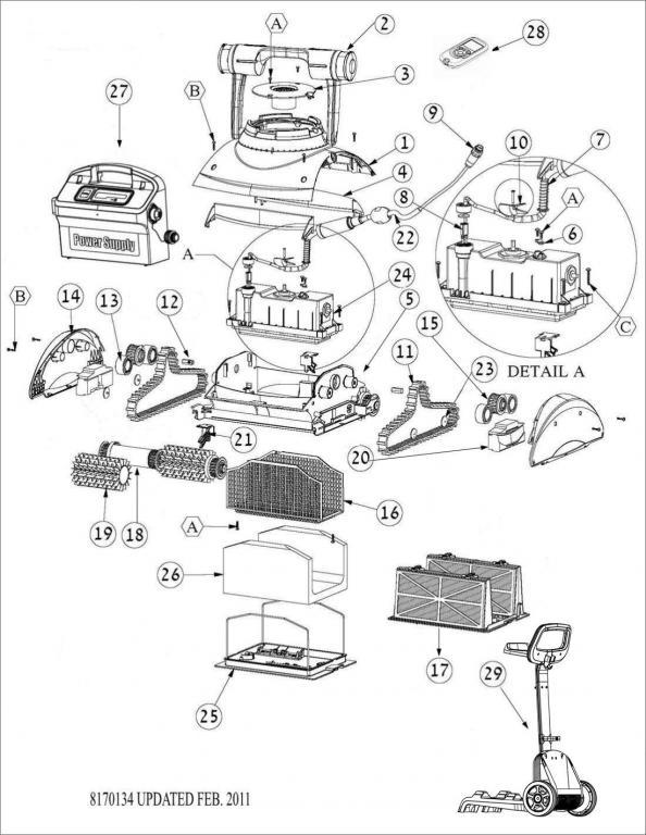 Parts Diagram - Maytronics DX5s