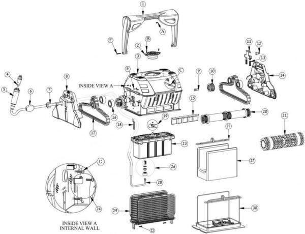 Parts Diagram - Maytronics Dolphin Evolution X5