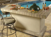 "85"" Long Beach Complete Outdoor Kitchen - Designed to Accomodate the Big Green Egg - No One Beats Our Price!"