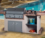 "96"" Long Beach Complete Outdoor Kitchen with Upgrade 36"" RH Peterson Grill - No One Beats Our Price!"