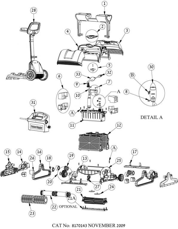 Parts Diagram - Maytronics Dolphin Supreme M400