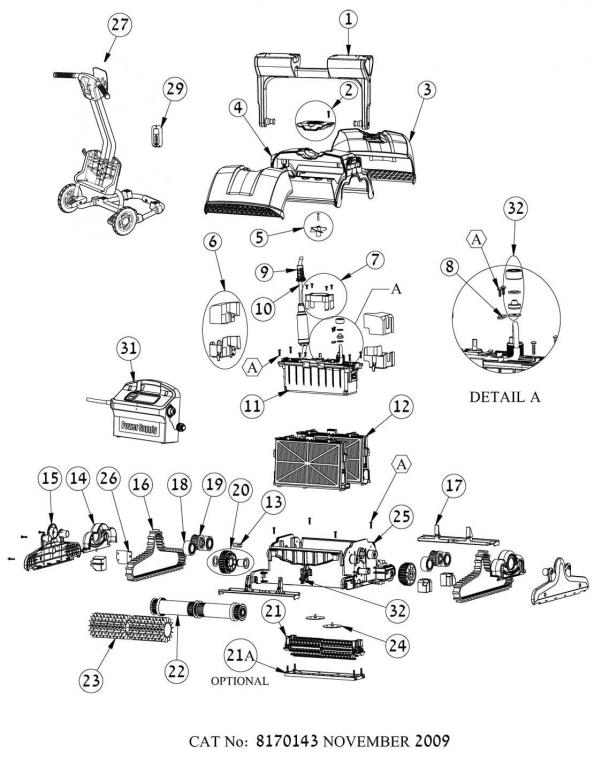 Parts Diagram - Maytronics Dolphin Supreme M5 and Liberty