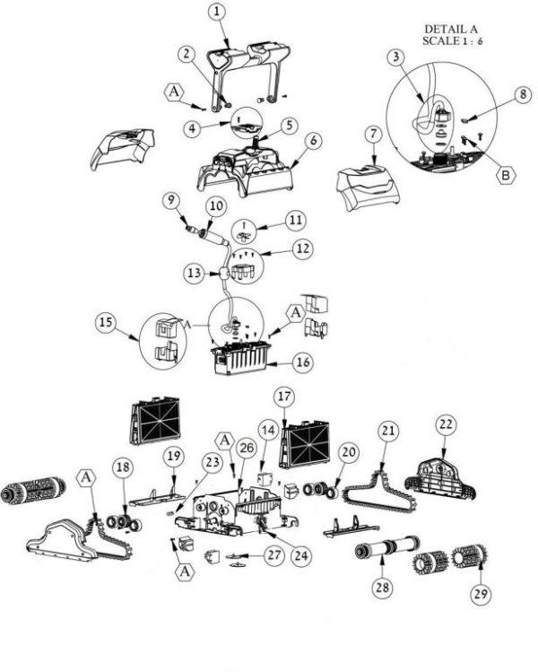 Parts Diagram - Maytronics Oasis Z5