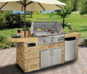 Riviera Complete Outdoor Kitchen - Stone and Tile Design - No One Beats Our Price!
