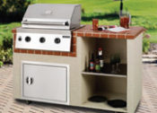 5' South Beach Complete Outdoor Kitchen - No One Beats Our Price!