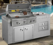 "6' South Beach Complete Outdoor Kitchen with Upgraded 36"" RH Peterson/Firemagic Grill - No One Beats Our Price!"