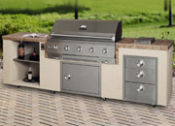 9' South Beach Complete Outdoor Kitchen - No One Beats Our Price!