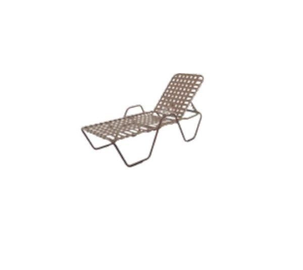 Country Club Chaise Lounge - with Arms - Cross Weave