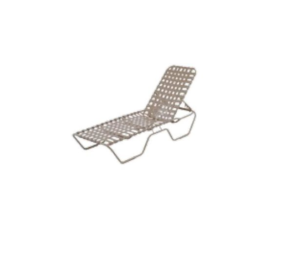 Country Club Chaise Lounge - Cross Weave