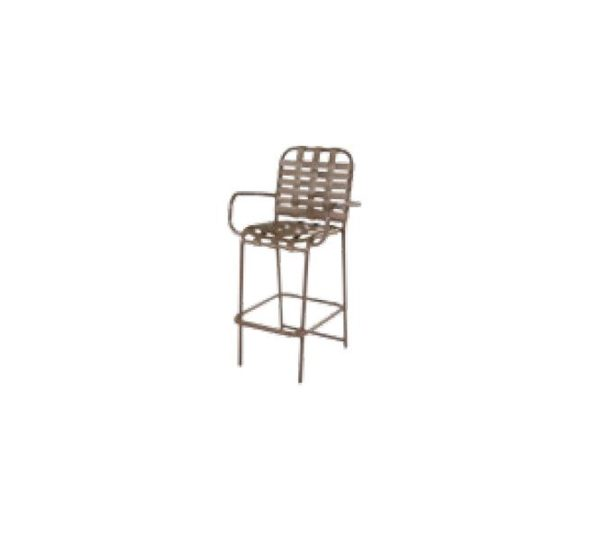 Country Club Bar Chair - with Arms - Cross Weave