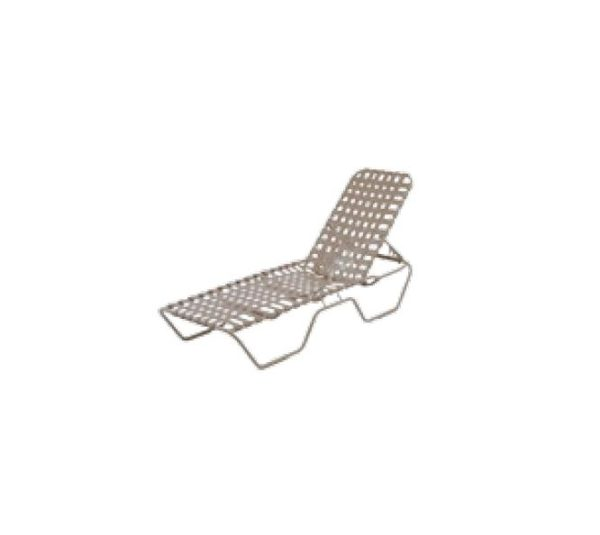 "Neptune Chaise Lounge - 18"" High Seat - Cross Weave"