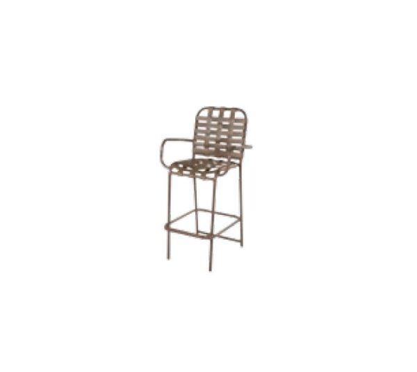 Neptune Bar Arm Chair - Cross Weave