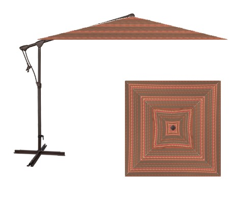 Treasure Garden AG19SQ 8.5' Square Cantilever Umbrella