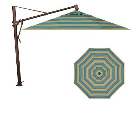 Treasure Garden AKZ 11' Octagon Cantilever Umbrella