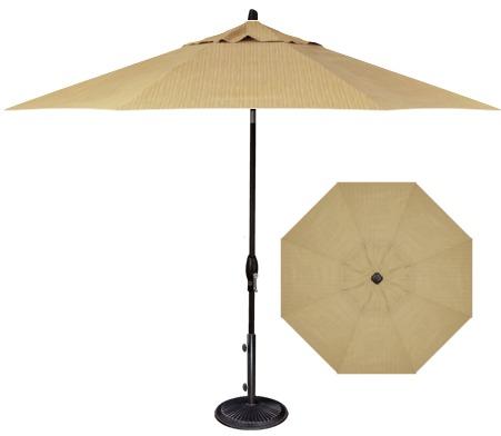 Dupione Bamboo Fabric 9' Market Umbrella