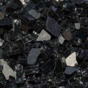 "1/4"" Black Reflective Fire Pit or Fireplace Glass - 10 lbs"