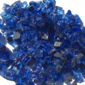 "1/2"" Blue Reflective Fire Pit or Fireplace Glass - 10 lbs"