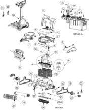 Parts Diagram - Maytronics Dolphin C3 Robotic Pool Cleaner