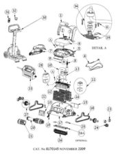 Parts Diagram - Maytronics Dolphin C4 Robotic Pool Cleaner